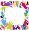 footsteps vector image vector image