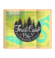 forest camp banner template retro hand drawn vector image vector image