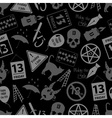 friday the 13 bad luck day icons seamless dark