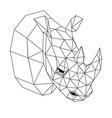 geometric rhinoceros vector image vector image