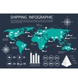 Global shipping and logistics infographics vector image vector image