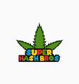 green marijuana healthcare business logo design vector image vector image