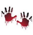 Handprint vector image