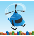 helicopter cartoon vector image vector image
