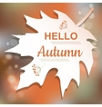 Hello Autumn orange card design