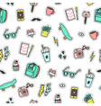hipster objects background vector image vector image