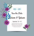 invitation card with flowers decoration vector image vector image