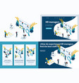 isometric concept for business vector image vector image