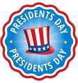 Label sticker Congratulations USA presidents day vector image vector image