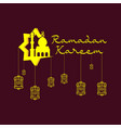 lantern ramadhan kareem background design vector image vector image