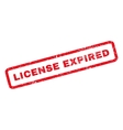 License Expired Rubber Stamp vector image vector image