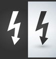 lightning icon two-tone version on black and vector image vector image