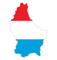 Map and flag of Luxembourg vector image
