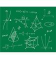 Mathematics sketches on school board vector image vector image