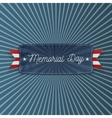 Memorial Day patriotic Banner with Text vector image vector image