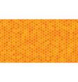 orange honeycomb background for presentation vector image