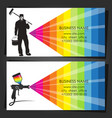 painter in uniform business card vector image vector image