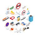 preparation icons set isometric style vector image vector image