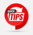 quick tips symbol or emblem vector image
