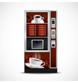 Realistic Coffee Vending Machine vector image