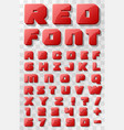 Red font 3d on a transparent background