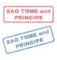 sao tome and principe textile stamps vector image