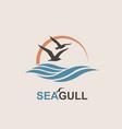 seagull logo design vector image vector image