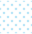 seamless pattern with snowflakes vector image vector image