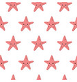 seamless pattern with starfishes cute nautical vector image