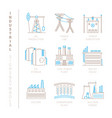 set of industrial icons and concepts in mono thin vector image