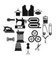 sewing icons set simple style vector image vector image