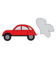 simple a red car on white background vector image vector image