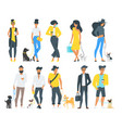 street fashion people vector image vector image