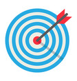 target flat icon business and dartboard vector image vector image