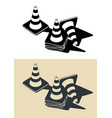 traffic cones drawings vector image vector image