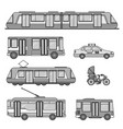 types city transport line monochrome vector image vector image