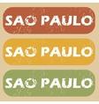 Vintage Sao Paulo stamp set vector image