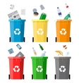 Waste management concept vector image vector image