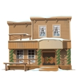 Wooden classic saloon decorated for Christmas vector image vector image