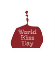 world kiss day vector image vector image