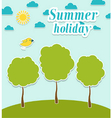 Abstract summer paper background with trees vector image