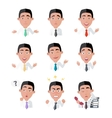 Variety of Emotions Office Worker vector image