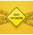 Under Construction Background with Yellow vector image