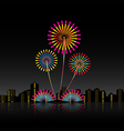 Bright festive fireworks vector image