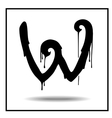Melted grunge font vector image