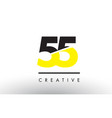 55 black and yellow number logo design