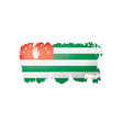 abkhazia flag on a white vector image