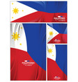abstract philippines flag background vector image vector image