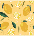 abstract seamless patterns with lemon vector image