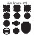 Big set of monochrome frames vector image vector image
